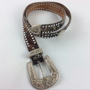 Blazin Roxx bling camo  leather belt size L